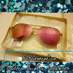 BCBGeneration Modern Aviator Sunglasses, Womens